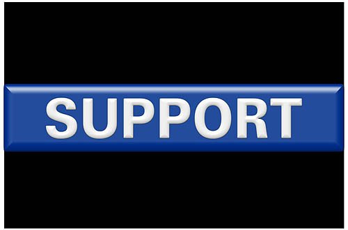 Thin Blue Line SUPPORT Rectangle Reflective Decal - 2 x 3 Rectangle