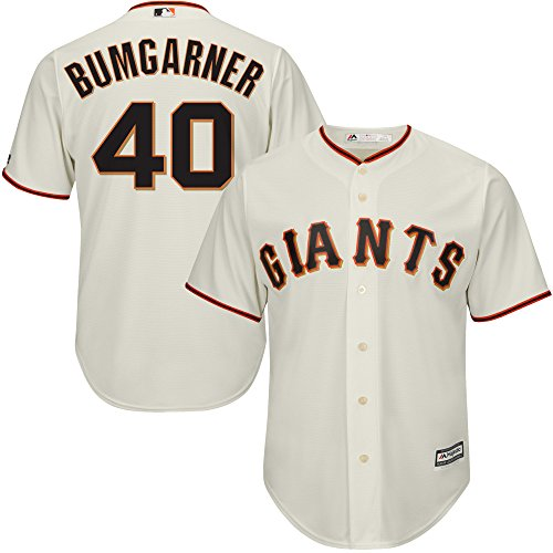 Madison Bumgarner San Francisco Giants MLB Majestic Toddler Ivory Cream Home Replica Jersey (Toddler 4T)