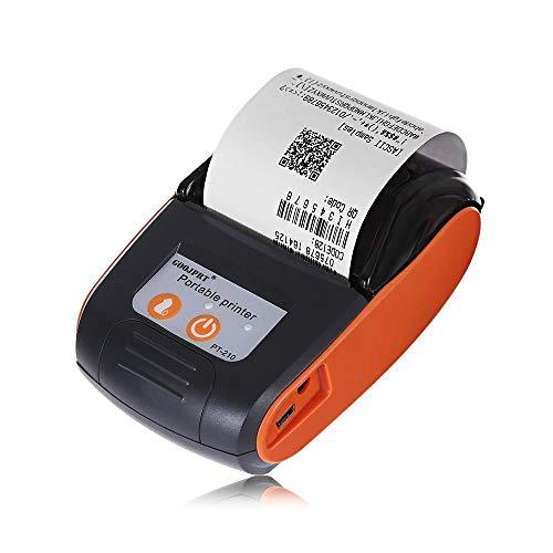 - GOOJPRT PT - 210 Portable 58mm Bluetooth Thermal Printer Portable Wireless Handheld Mini Receipt Printer for iOS Android Windows System (Orange)