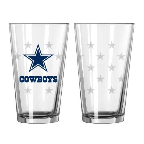NFL Dallas Cowboys Satin Etch Pint, 16-ounce, 2-Pack - Nfl Pint Glasses