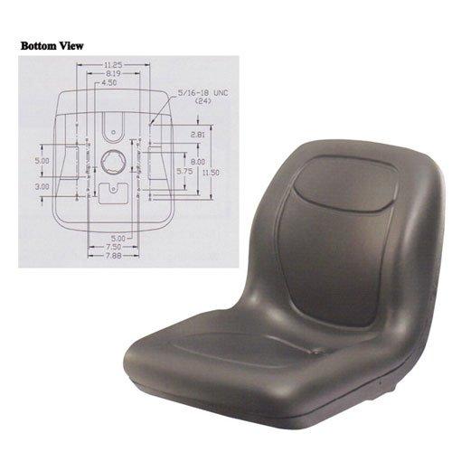 Bucket Seat Vinyl Black John Deere Komatsu Massey Ferguson Caterpillar New Holland 70 4400 240 4700 4710 955 755 655 4600 4300 4500 8875 325 4410 4510 855 4310 4610 4200 4210 335 890 1240 1250 246 by All States Ag Parts
