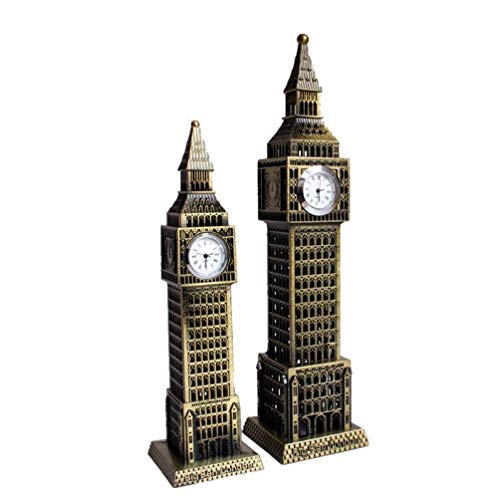 Ben Giraffe - YOTATO 2 Sizes Big Ben Statue Make Iron Metal Craft Elizabeth Tower Sculpture Clock Decoration Craft Home & Bar