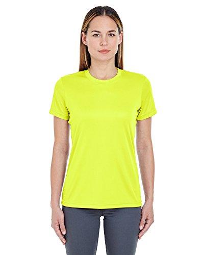 Yellow T-shirt Bright (Ultraclub 8620L Ladies' Cool & Dry Basic Performance T-Shirt Bright Yellow 2Xl)
