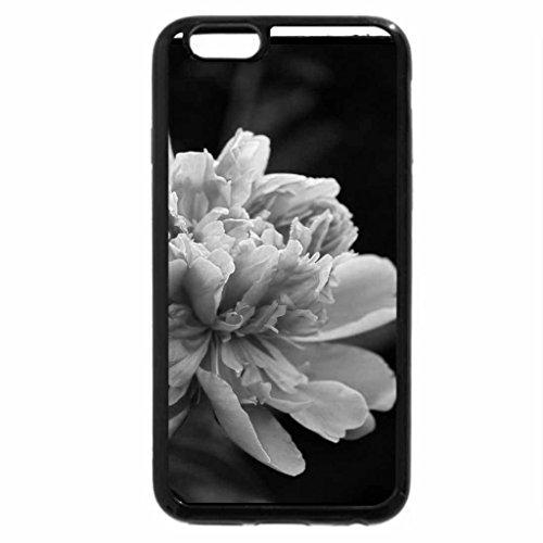 iPhone 6S Plus Case, iPhone 6 Plus Case (Black & White) - PEONY FLOWER