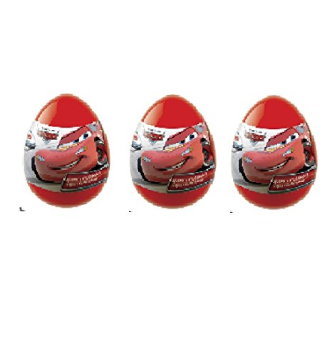 "Сars Set of 3 plastic Egg from Cartoon "" Cars 2"""