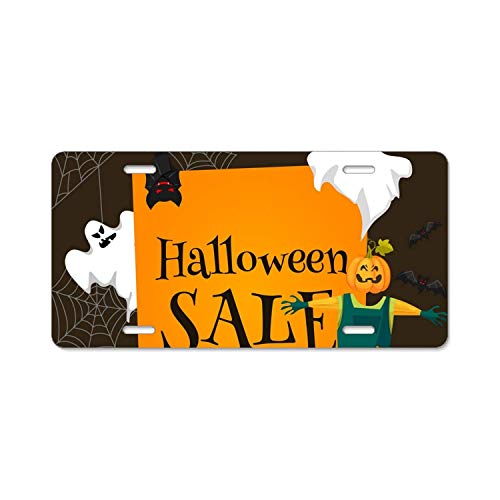 YEX Abstract Halloween sale6 License Plate Frame Car