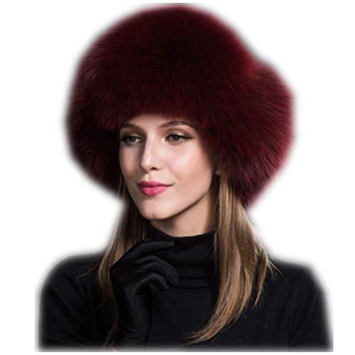 853756cadbb MH Bailment Womens Winter Hat Genuine Fox Fur Russian Hats Lei Feng ...