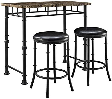 Linon Home D cor Fannin Black Pub Set