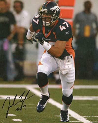 Signed John Lynch Photo - SLIGHT CREASE LOWER 8x10 W COA - Autographed NFL Photos