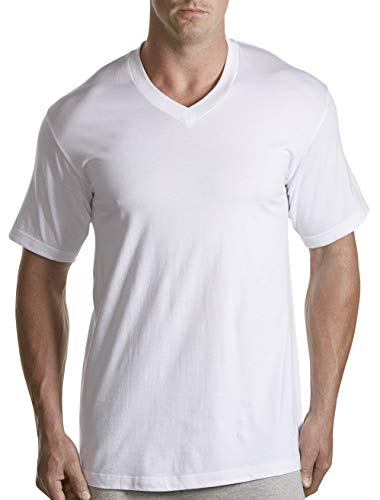 Harbor Bay by DXL Big and Tall 3-Pack V-Neck T-Shirts White ()