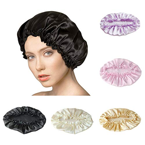 - Silk Night Cap by One Planet - Head Cover Bonnet for Beautiful Hair - Wake Up Perfect Daily!