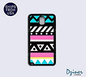 Galaxy Note 3 Case - Turquoise Pink Aztec Tribal by lolosakes