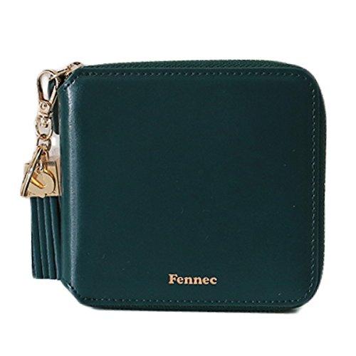 Fennec Zipper Wallet Square Tassel フェネック 二つ折り財布 コインケース付き 【Fennec OFFICIAL】 B078YN5CZR モスグリーン モスグリーン