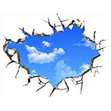 3D Blue Sky Clouds Ceiling Wall Stickers Home DIY Art PVC Decal Decor Mural