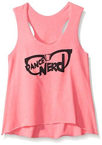 Gia-Mia Dance Big Girls Nerd Tank, Pink, Large
