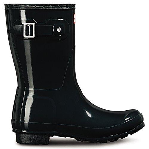 Womens Blue Ocean Rain Snow Boots Gloss Winter Short Hunter Wellingtons Original rwvP7rAx