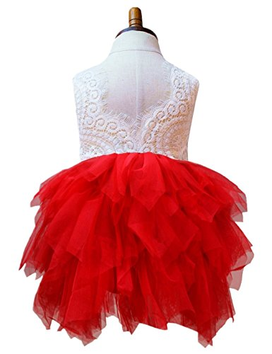 Baby Children Dress for Party Flower Dark Red Prom for sale  Delivered anywhere in Canada