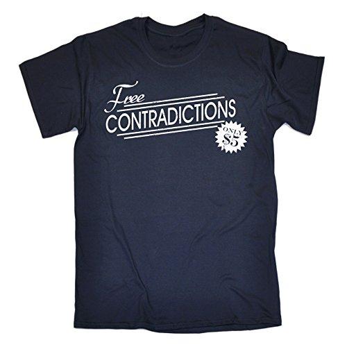 solo azul hombres por y para contradicciones marino 5 Lemas amplia Camiseta 123t qwOnxFxvW