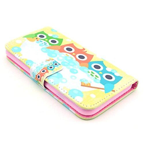 Owl Painting Art Design Beutel PU Leder Stehen Flip Schutzhülle Hülle Tasche Schale Case Cover für Apple iPhone 6 4.7 Zoll (12#)