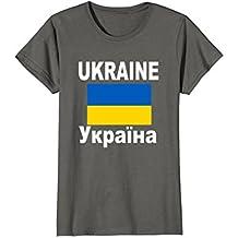 Ukraine Flag T-Shirt Ukrainy Ukrainian Flags Gift Top Tee