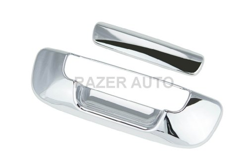 08 Chrome Tailgate - Razer Auto CHROME TAILGATE HANDLE COVER for 02-08 DODGE RAM