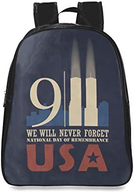 911 America Patriot Day Casual Daypack Teen Girls Fashion Bags Girl Fashion Bags Print Zipper Students Unisex Adult Teens Gift