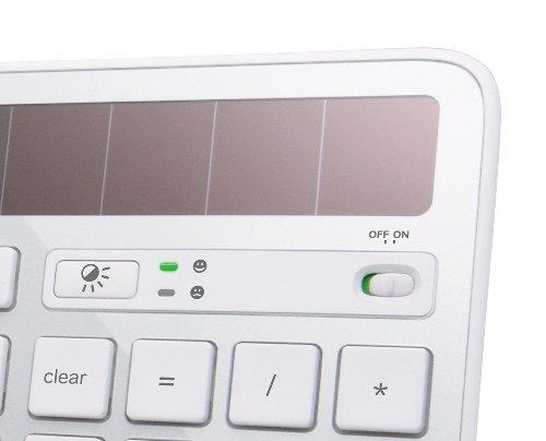 Logitech K750 Wireless Solar Keyboard for Mac — Solar Recharging, Mac-Friendly Keyboard, 2.4GHz Wireless – Silver