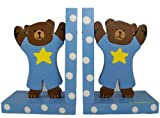 Baby Blue Teddy Bear Bookends, Baby & Kids Zone