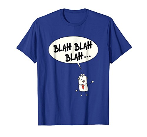 Mens Blah Blah Blah T Shirt With Stickman Blabbermouth Large Royal Blue