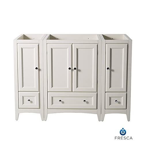 "50%OFF Fresca FCB20-122412AW-CMB Oxford 48"" Antique White Traditional Bathroom Cabinets"