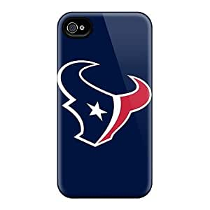 ALc11749fFlo Anti-scratch Cases Covers DateniasNecapeer Protective Houston Texans 4 Cases For Iphone 4/4s