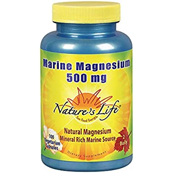 Natures Life Marine Magnesium 500mg | Healthy Digestion & Regularity Formula with Magnesium Hydroxide from Northern Sea Waters | 100 Vegetarian Caps