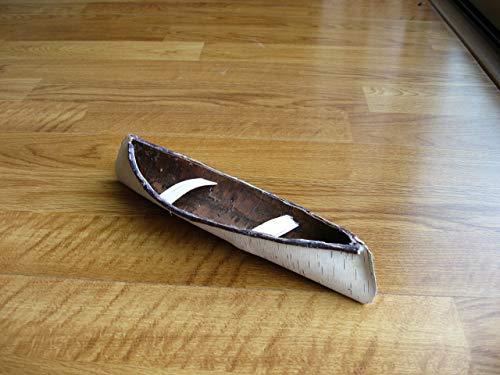 Mini-birch bark canoe