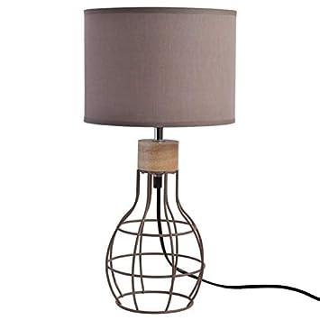 Cm E14 Poserchevet Jour Assorti Filaire Abat A Diametre Taupe Vasco Hauteur Lampe 4w 37 Avec 22 dxeorCB