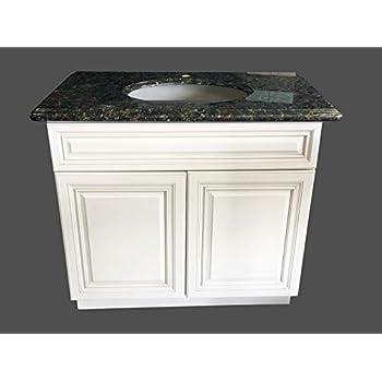 New Antique White Single-sink Bathroom Vanity Base Cabinet