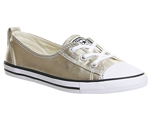 Converse Chuck Taylor Ballet Lace, Zapatillas de Estar por Casa para Mujer Pale Gold Canvas Exclusive