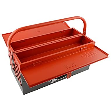 Venus VTB Metal Tool Box with 5 Compartment Box (Red) 8