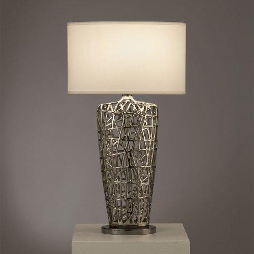 Accent Table Lamp Nova Lighting - Nova Lighting Bird's Nest Heart Table Lamp, Silver