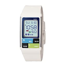 Casio Women's LDF50-7CF Pop Tone White Digital Watch