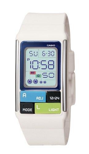 Casio Women's LDF50-7CF Pop Tone White Digital Watch