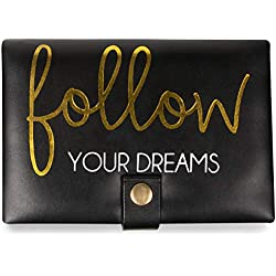 Pavilion Gift Company Follow Your Dreams Jewelry Case, Black