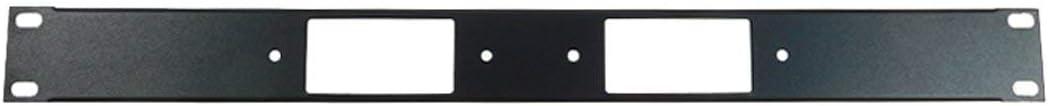 Two Inserts 1U Procraft Decora AV 16 ga Formed Aluminum Rack Panel