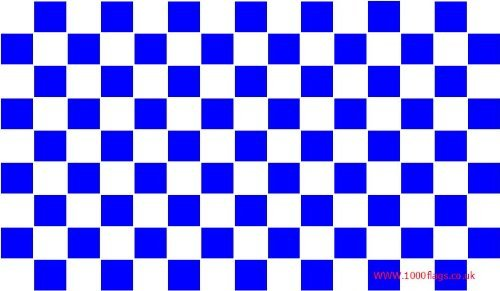 Chelsea Royal Blue and White Checkered 5'x3' Flag