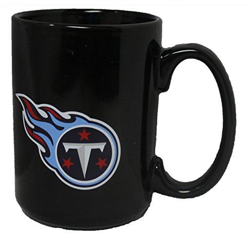 Memory Company Tennessee Titans 15oz Black Ceramic Coffee Mug (Tennessee Titans Ceramic)