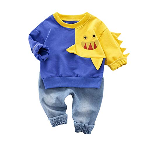 Little Boys' 3 Piece Long Sleeve Plaid Shirt and Denim Pants Jeans Set Casual Suit for Toddler Boy Summer Outfit Set Yellow