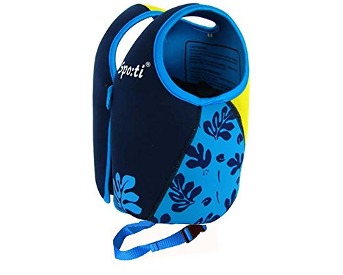 Rayma Baby UPF 50+ Life Jacket New Swimming Learner Protection Vest New Added Cross Belt for Safety For Baby New Added Cross Belt Package With Arm Bands Beach Bag (Print Blue, S 20-33lbs) by Rayma (Image #3)