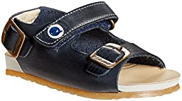 Naturino \'1407\' Leather Sandal Sandal (Toddler), Navy, 19 EU (3-3.5 M US Toddler)