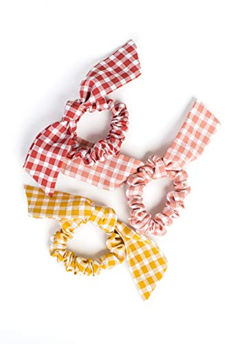 Bow Hair Tie Scrunchies Elastic Hair Types. Unique Design, Perfect for Girls and Women. (3 Pack)