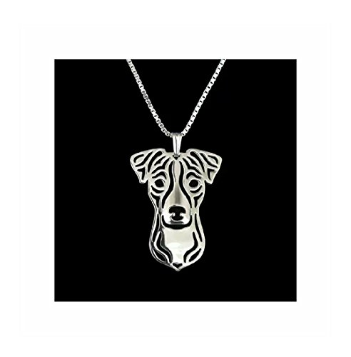 Russell Necklace Jack (Jack Russell Terrier Dog Necklace Silver-Tone)