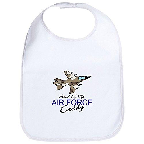 CafePress Air Force Daddy Bib Cute Cloth Baby Bib, Toddler Bib ()